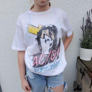 AC/DC white tee